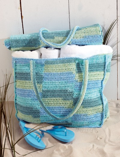 Beach Bag & Mat Free Crochet Pattern
