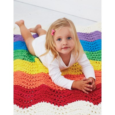 Bernat End of the Rainbow Blanket Free Crochet Pattern