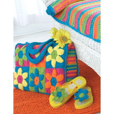 Bernat Flower Power Beach Bag Free Crochet Pattern