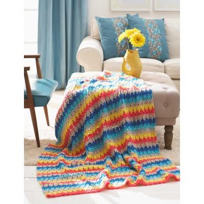 Bernat Larksfoot Blanket Free Crochet Pattern