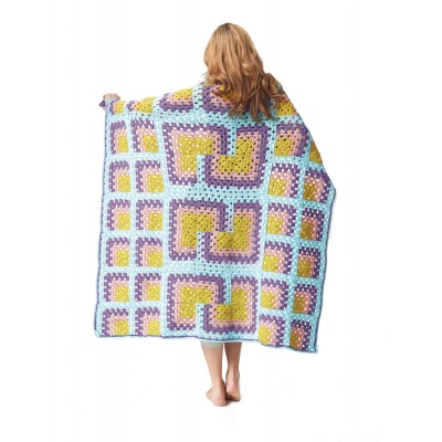 Bernat Mitered Granny Square Throw