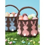 Bunny Egg Basket Free Crochet Pattern