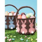 Bunny Egg Basket Free Crochet Pattern
