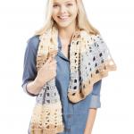 Cappuccino Pop Scarf Free Crochet Pattern