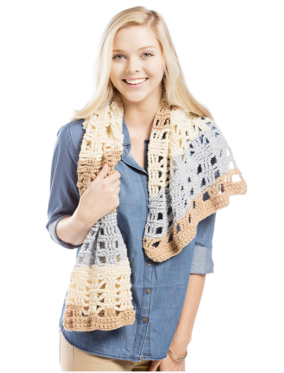 Cappuccino Pop Scarf Free Crochet Pattern