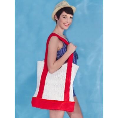Caron Nautical Tote Bag Free Crochet Pattern
