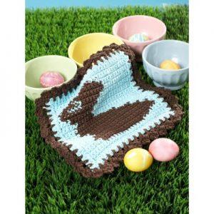 Chocolate Bunny Dishcloth Free Crochet Pattern