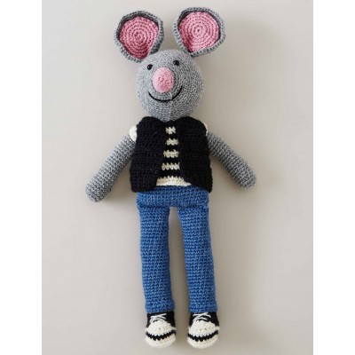 City Mouse Free Crochet Toy Pattern