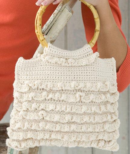 Crochet Ruffled Bag Free Crochet Pattern