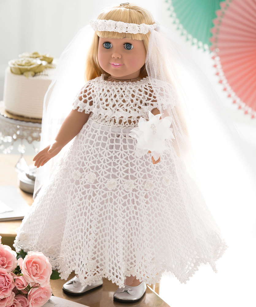 Crochet wedding dress for doll free pattern crochet kingdom for Crochet wedding dress patterns