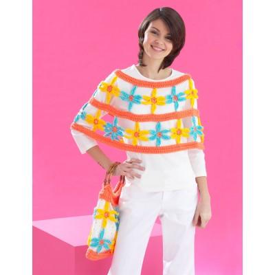 Daisy Chain Poncho and Bag Set Free Crochet Pattern
