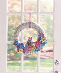 Easter Bunny Wreath Free Crochet Pattern