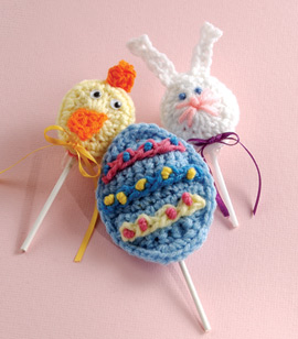 Easter Lollipop Covers Free Crochet Pattern