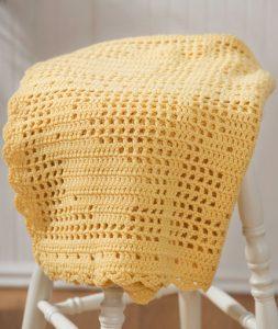 Filet Crochet Bunny Blanket Free Pattern