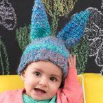Fluffy Bunny Hat crochet pattern for baby