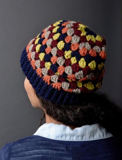 Granny Stripes Hat Easy Crochet Pattern