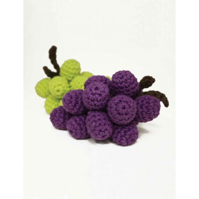 Grapes Free Easy Toy Crochet Pattern