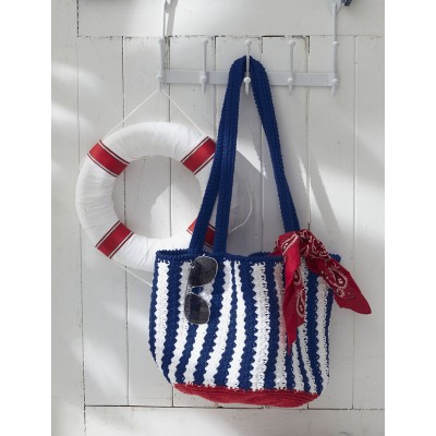 Nautical Striped Bag Free Crochet Pattern