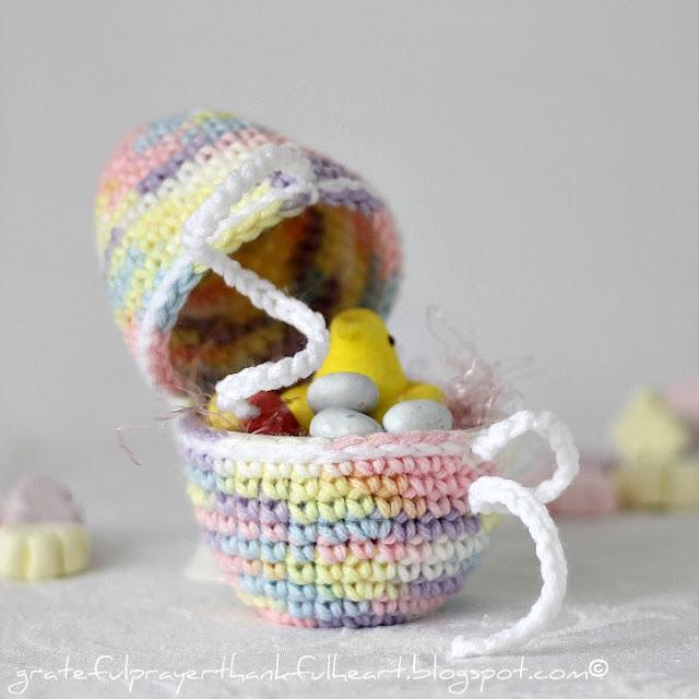 Open Crochet Easter Egg
