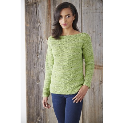 Patons Boat Neck Pullover Free Crochet Pattern