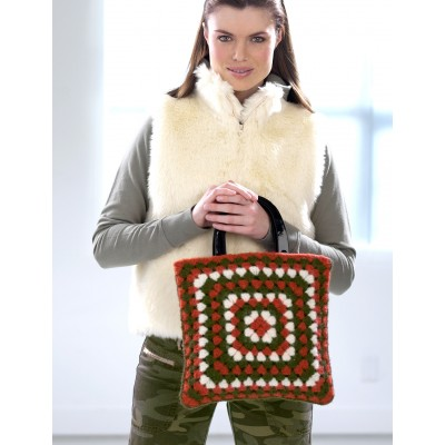 Patons Funky Felted Granny Bag Free Crochet Pattern