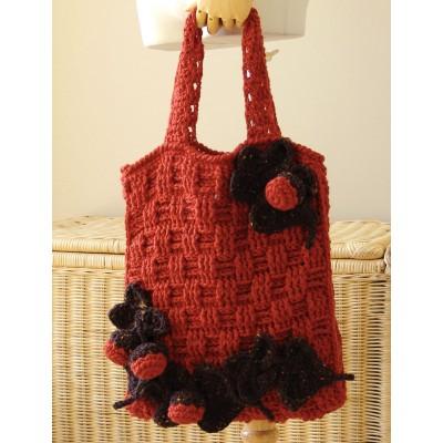 Patons Harvest Tote Bag Free Crochet Pattern