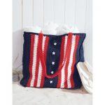 Patriotic US Bag Free Crochet Pattern