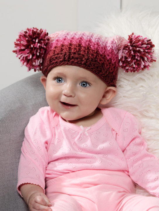 Pretty in Pink Baby Hat Crochet Pattern
