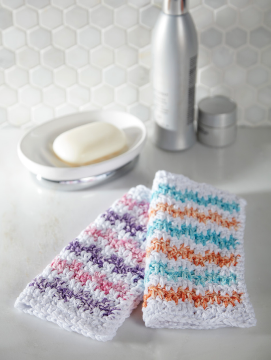 Rick Rack Washcloths Free Crochet Pattern