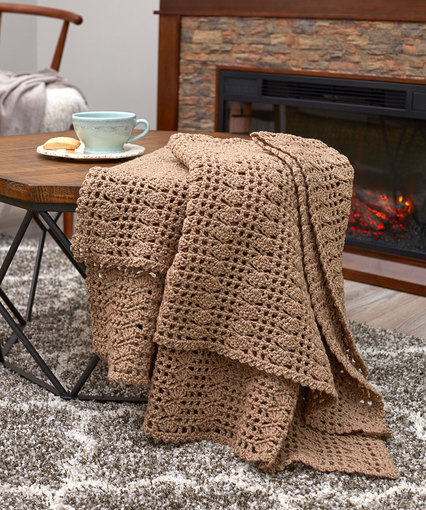 Charming Crochet Throw Free Crochet Pattern