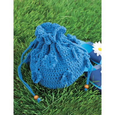 Spring Drawstring Bag Free Crochet Pattern