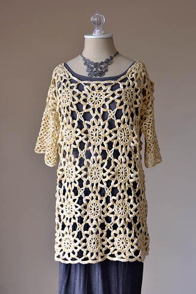 Sunbeam Tunic Free Crochet Pattern
