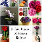 12 Amazing Free Crochet 3D Flower Patterns http://www.crochetkingdom.com