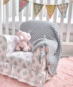 Little Elephant Baby Blanket Crochet Pattern |  AllFreeCrochetAfghanPatterns.com | 300x251