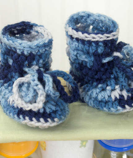 Absolute Beginner Baby Booties To Crochet Crochet Kingdom