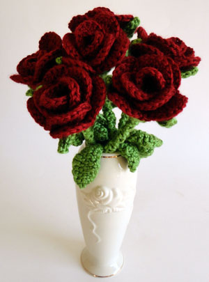 Crochet 3D Flower Patterns Free roses