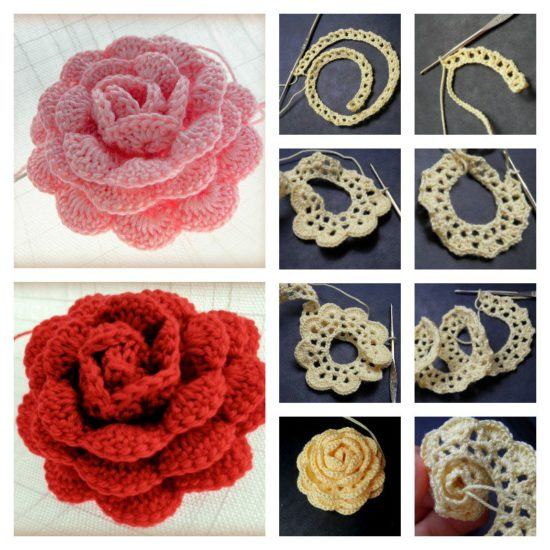 40 Amazing Free Crochet 40D Flower Patterns To Love And Make Classy Crochet Flowers Patterns