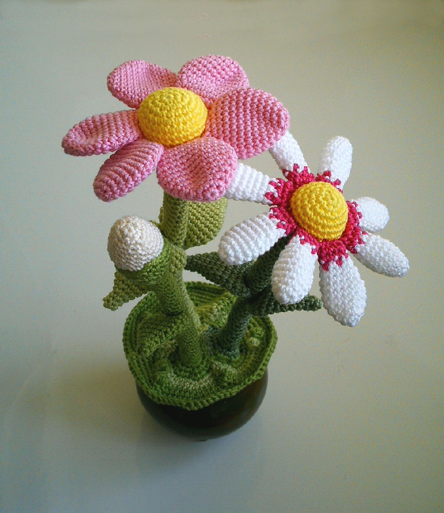 Crochet 3D Flower Patterns Free