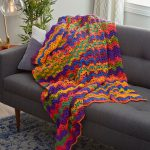 Vibrant Stripes Throw Free Crochet Pattern