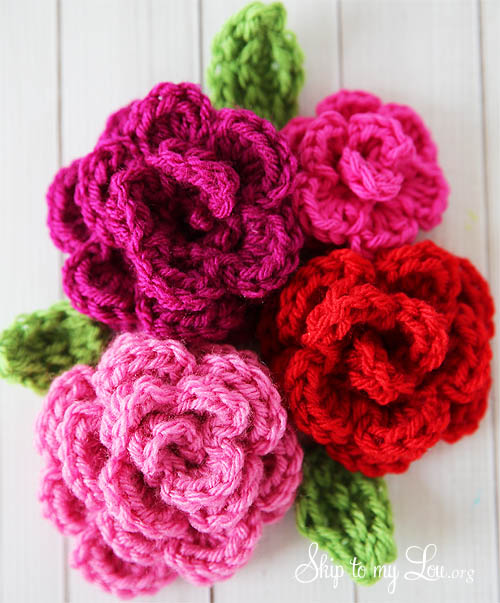 free easy rose crochet pattern