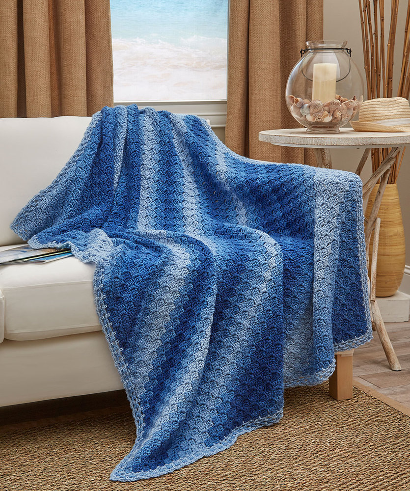 Corner-to-Corner Ombre Throw Free Crochet Pattern