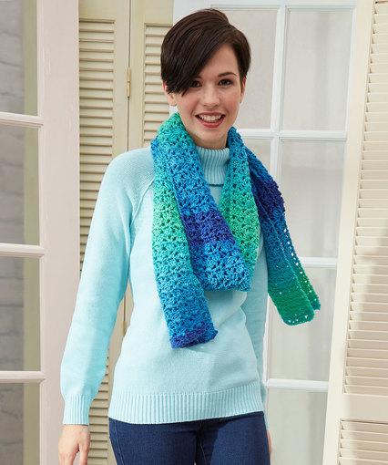 Jazzy Striping Scarf Free Crochet Pattern