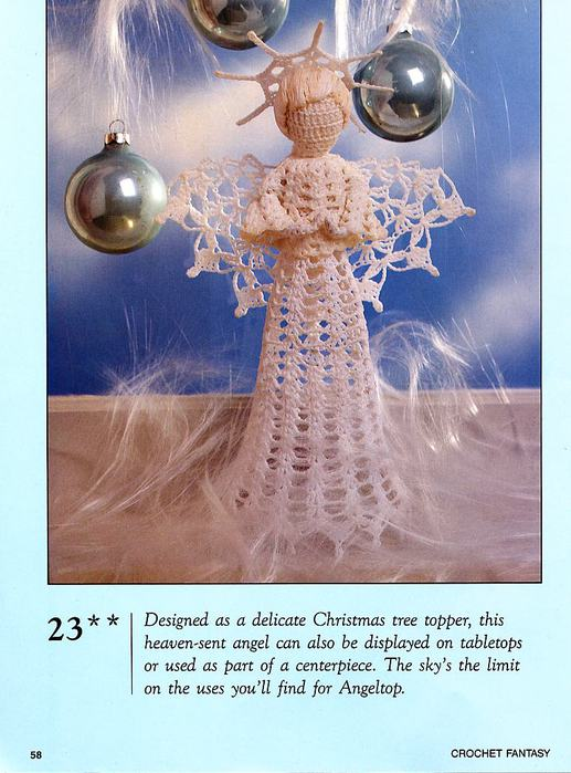 Crochet Angel Christmas Tree Topper Crochet Kingdom