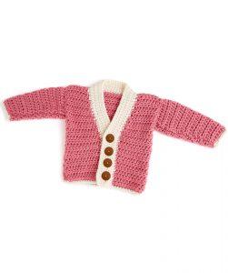 Crochet Cutie Baby Cardigan Free Pattern