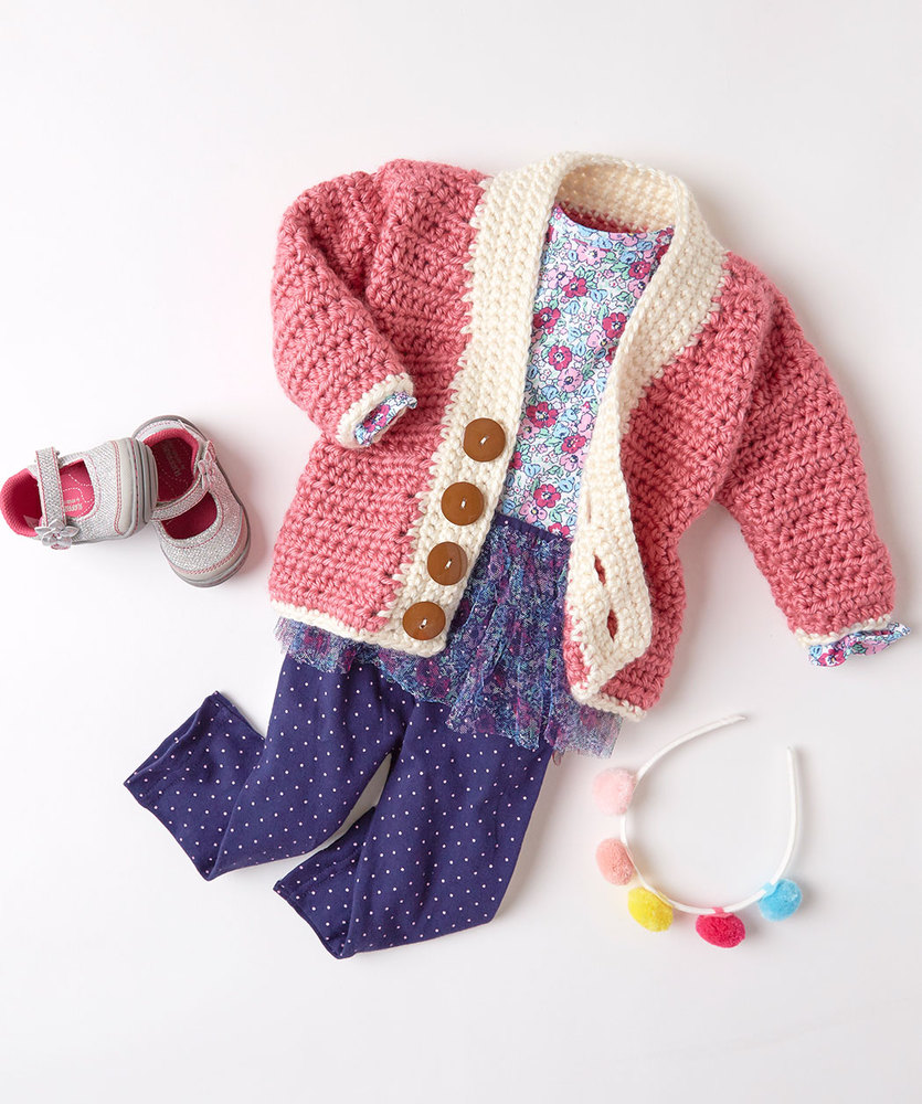 Cardigans crochet kingdom 45 free crochet patterns crochet cutie baby cardigan free pattern bankloansurffo Image collections