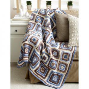 Deco Blocks Blanket Free Crochet Pattern