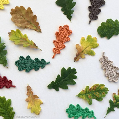 Fall Crochet Leaf Pattern