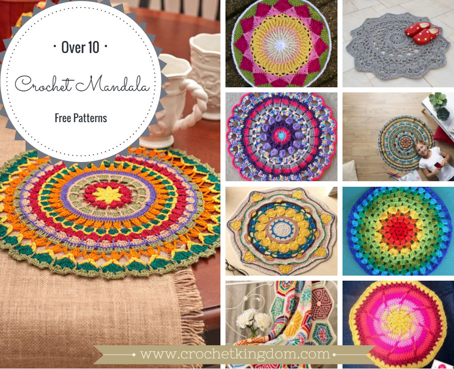 60 Free Crochet Mandala Patterns ⋆ Crochet Kingdom Enchanting Free Crochet Mandala Pattern