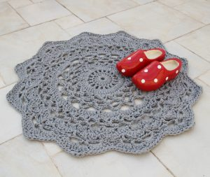 Giant Crocheted Doily Rug Pattern