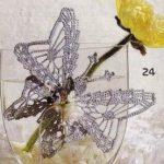 Gray Butterfly Crochet Pattern Diagram